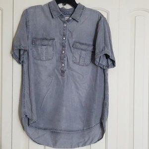 High Low Denim Shirt